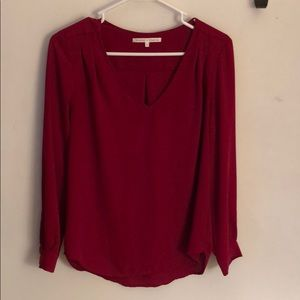 Red sheer top, size S